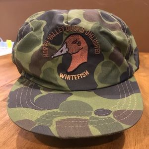 Vintage Strapback North Valley Ducks Unlimited Hat